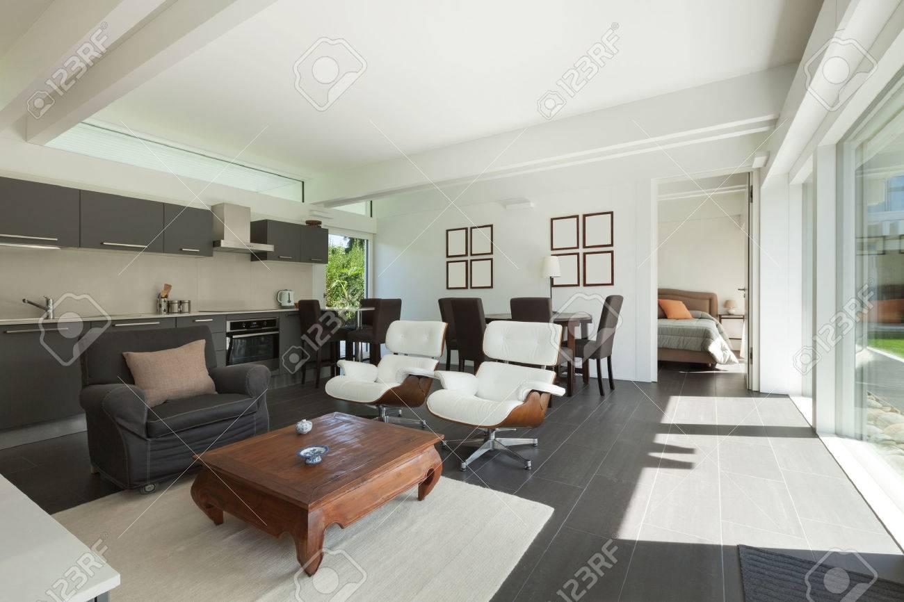 House, Een Modern Interieur, Mooie Woonkamer Ingericht Royalty ...