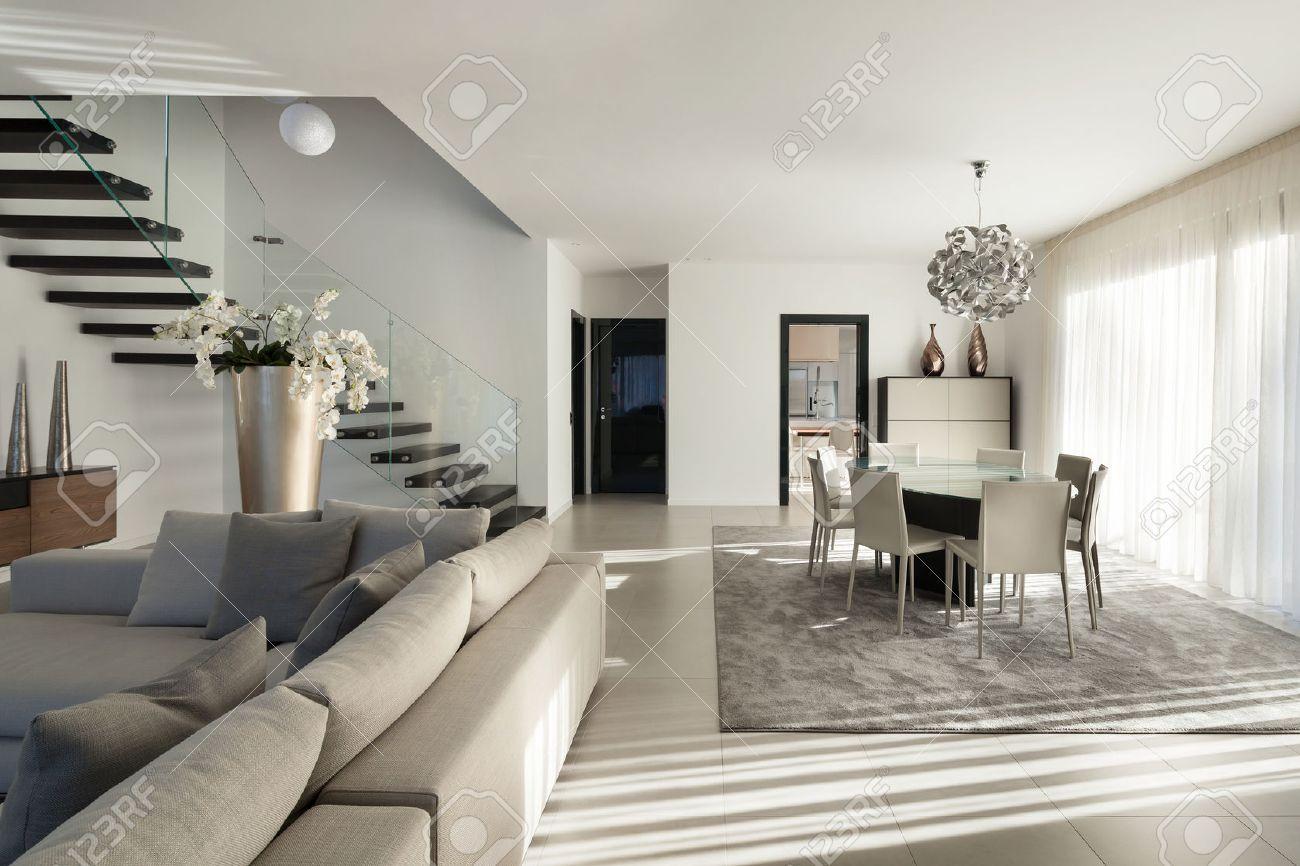 Inter Einer Modernen Wohnung Gemutliches Wohnzimmer Lizenzfreie