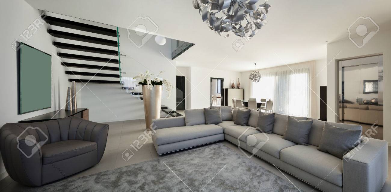 Interior of a modern apartment, comfortable living room - 50592690