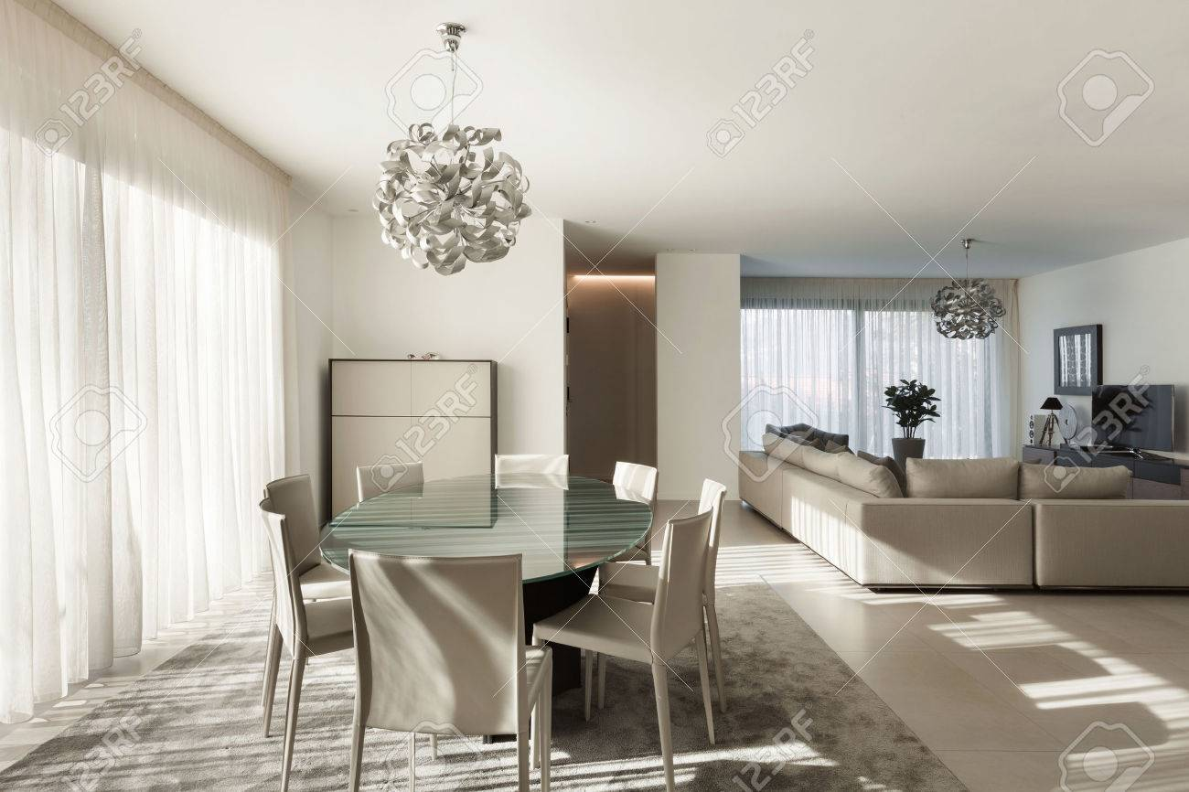 Interior of a modern apartment, comfortable living room - 50592695