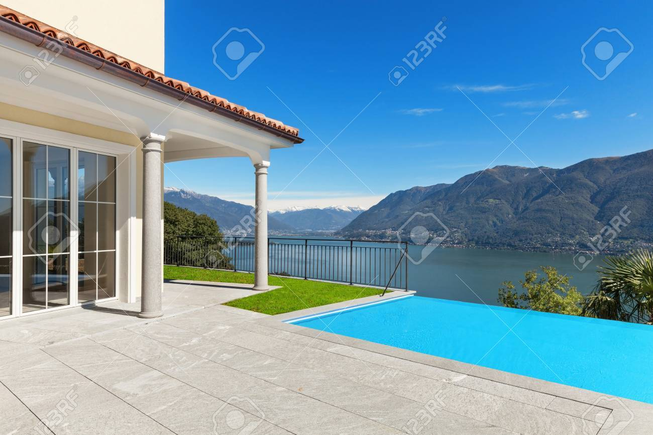 Lake Maggiore, view from the terrace of an a house - 51639437