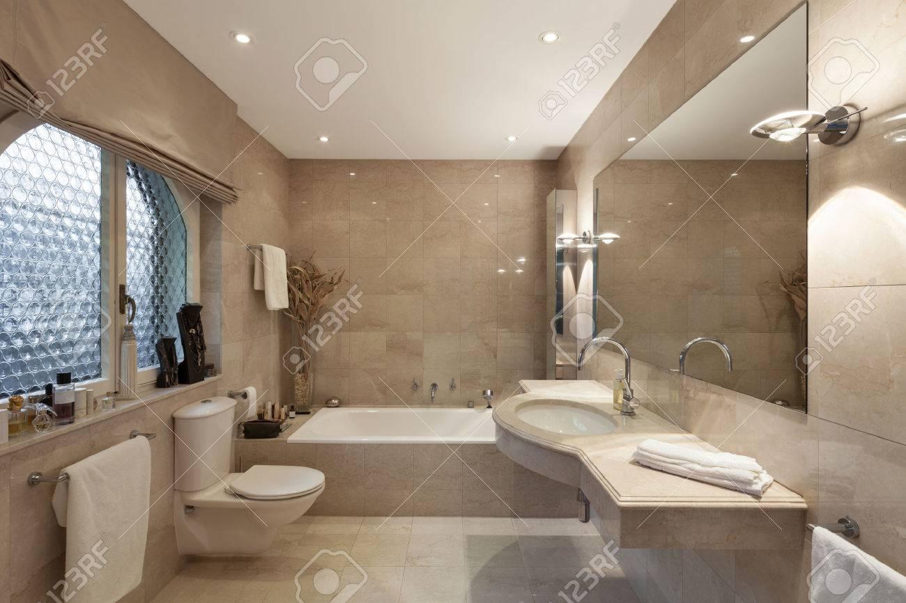 Interior of a modern house, bathroom, classic design - 52267026