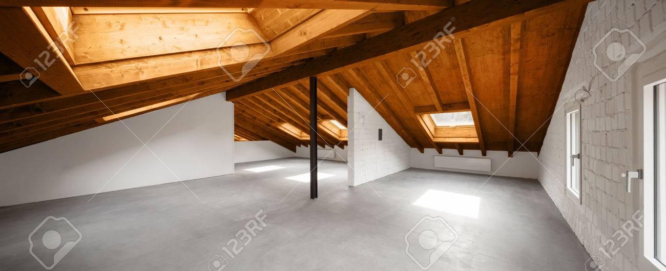 Modern loft interior, nobody inside Archivio Fotografico - 55519339