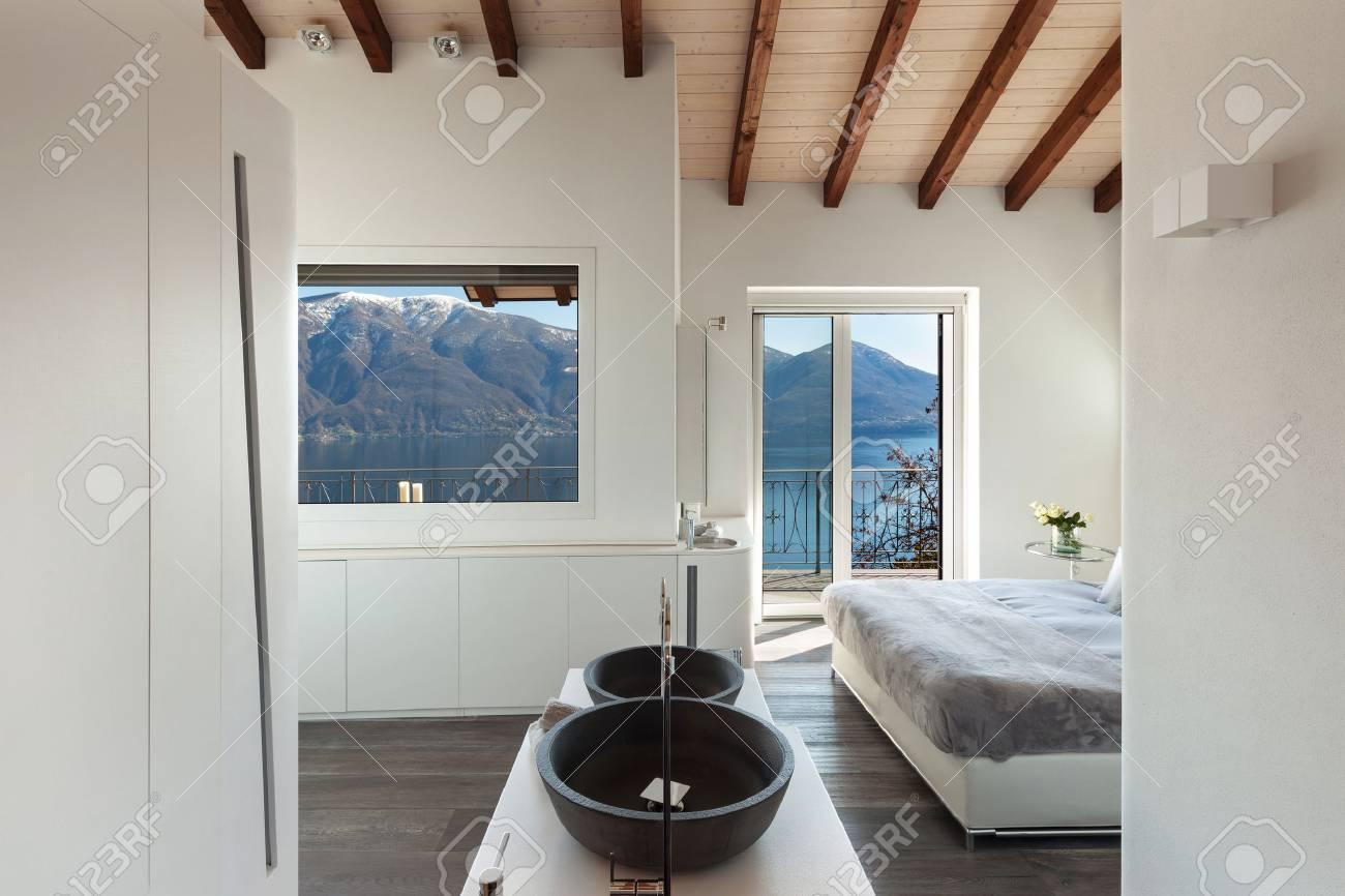Interior De Un Loft Dormitorio Con Bano Un Diseno Moderno Fotos - Dormitorio-diseo-moderno