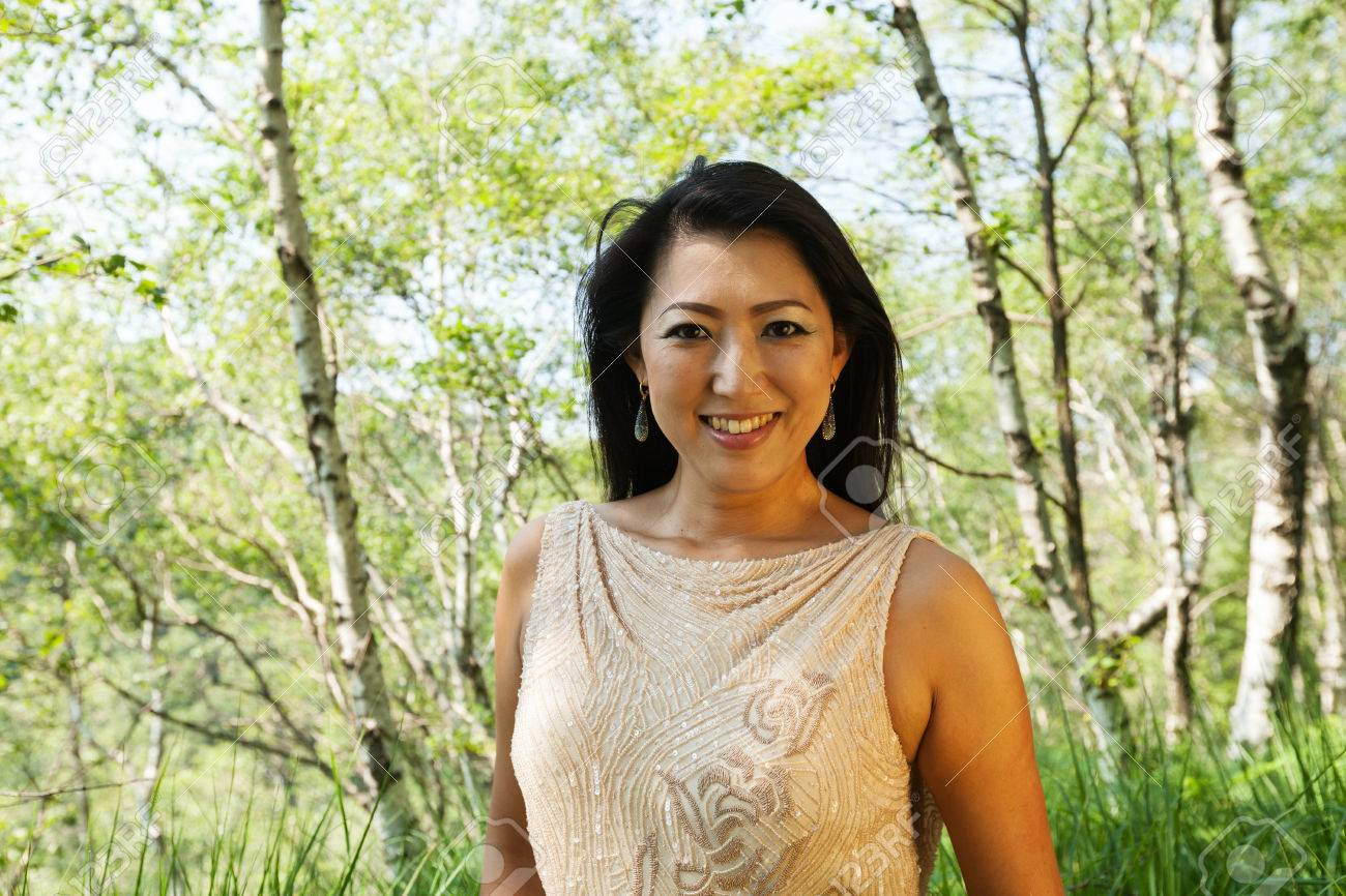Elegant Asian Elegant Asian Woman In The Forest Stock Photo Picture And Royalty