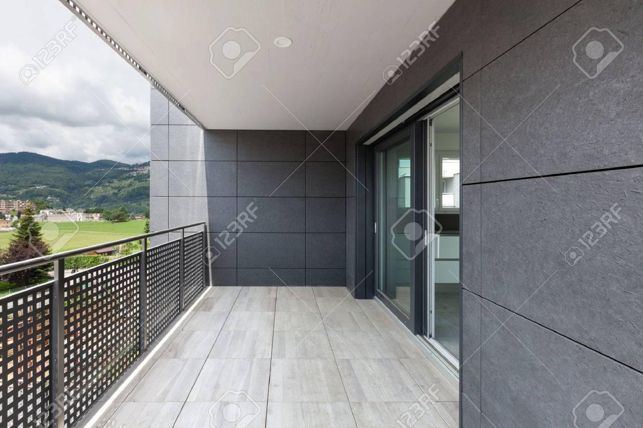 Architecture contemporary, balcony of a building Archivio Fotografico - 62408952