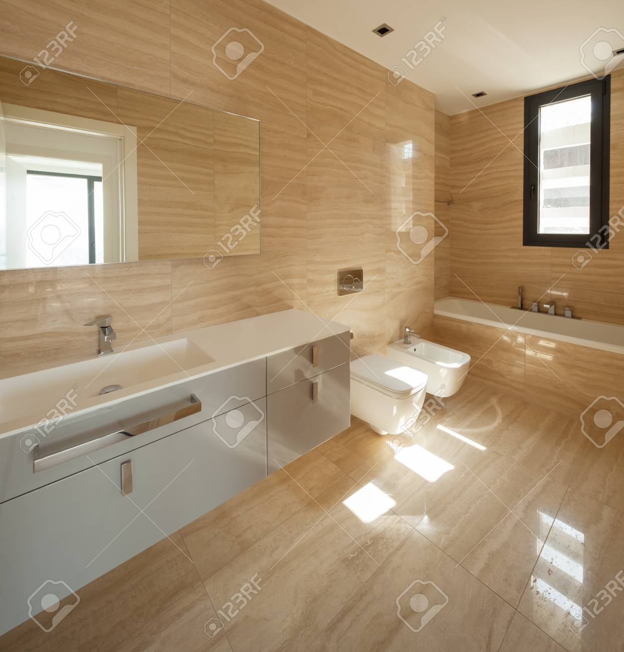 Beige Marble Bathroom Stock Photo Picture And Royalty Free Image Image 77438341
