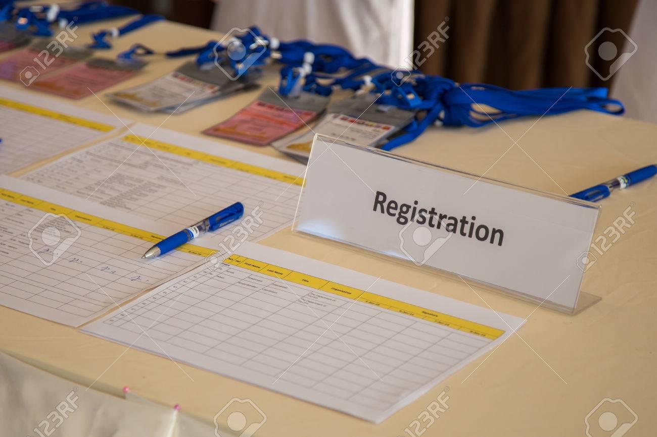 Conference Registration Desk - 50762370