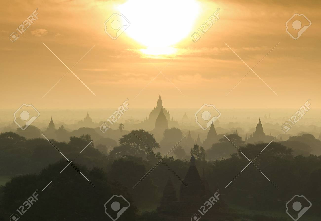 Bagan  Pagan  is an ancient city located in the Mandalay Region of Burma  Myanmar Stock Photo - 16925920