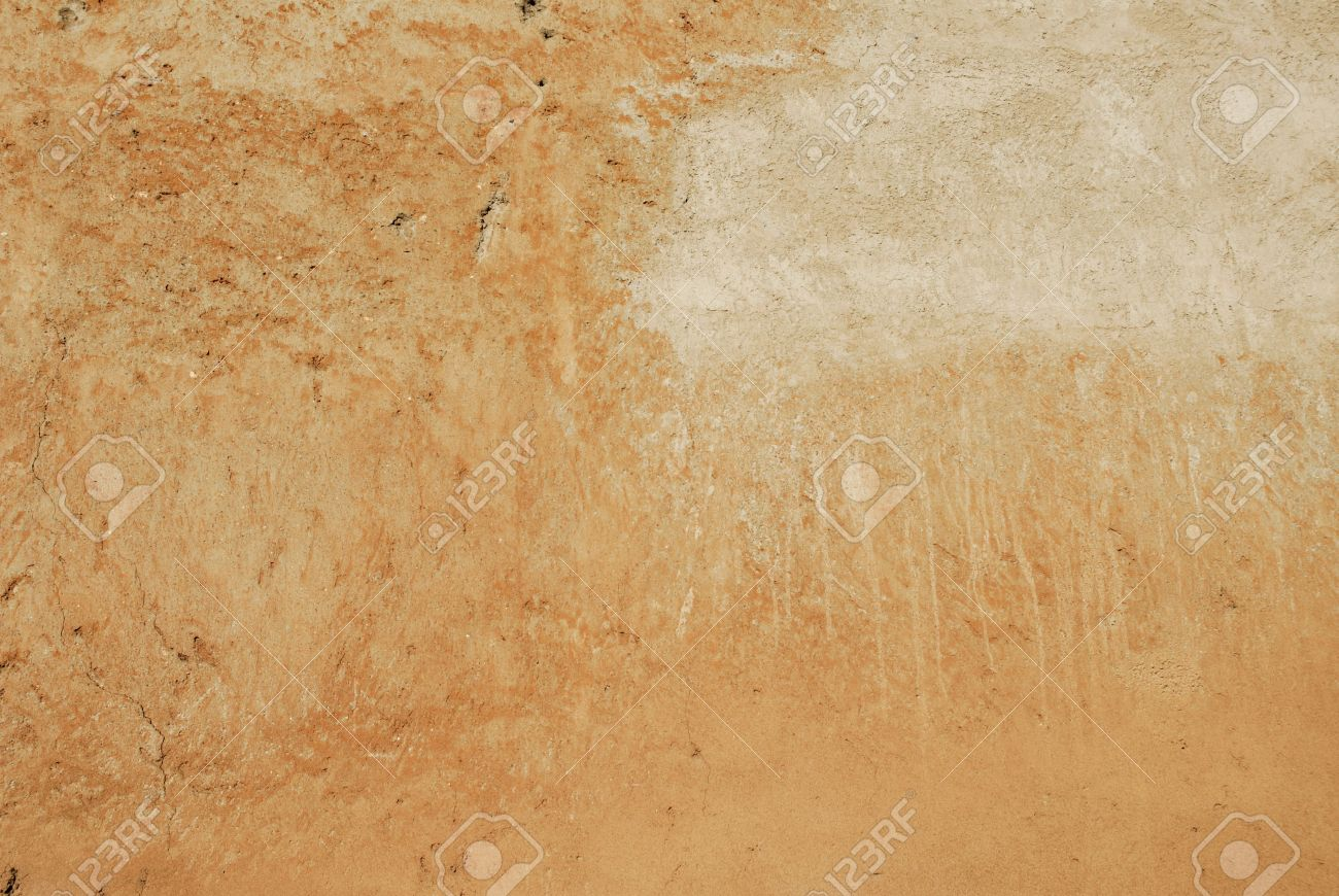 Mur Ocre texture mur de couleur ocre à rome avec de subtiles marques banque d