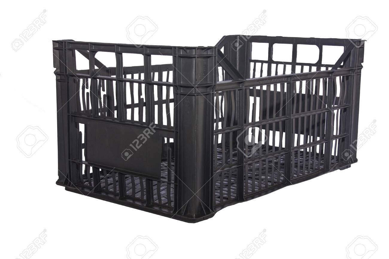 Isolated Plastic crate for vegetables with white background - 144409963