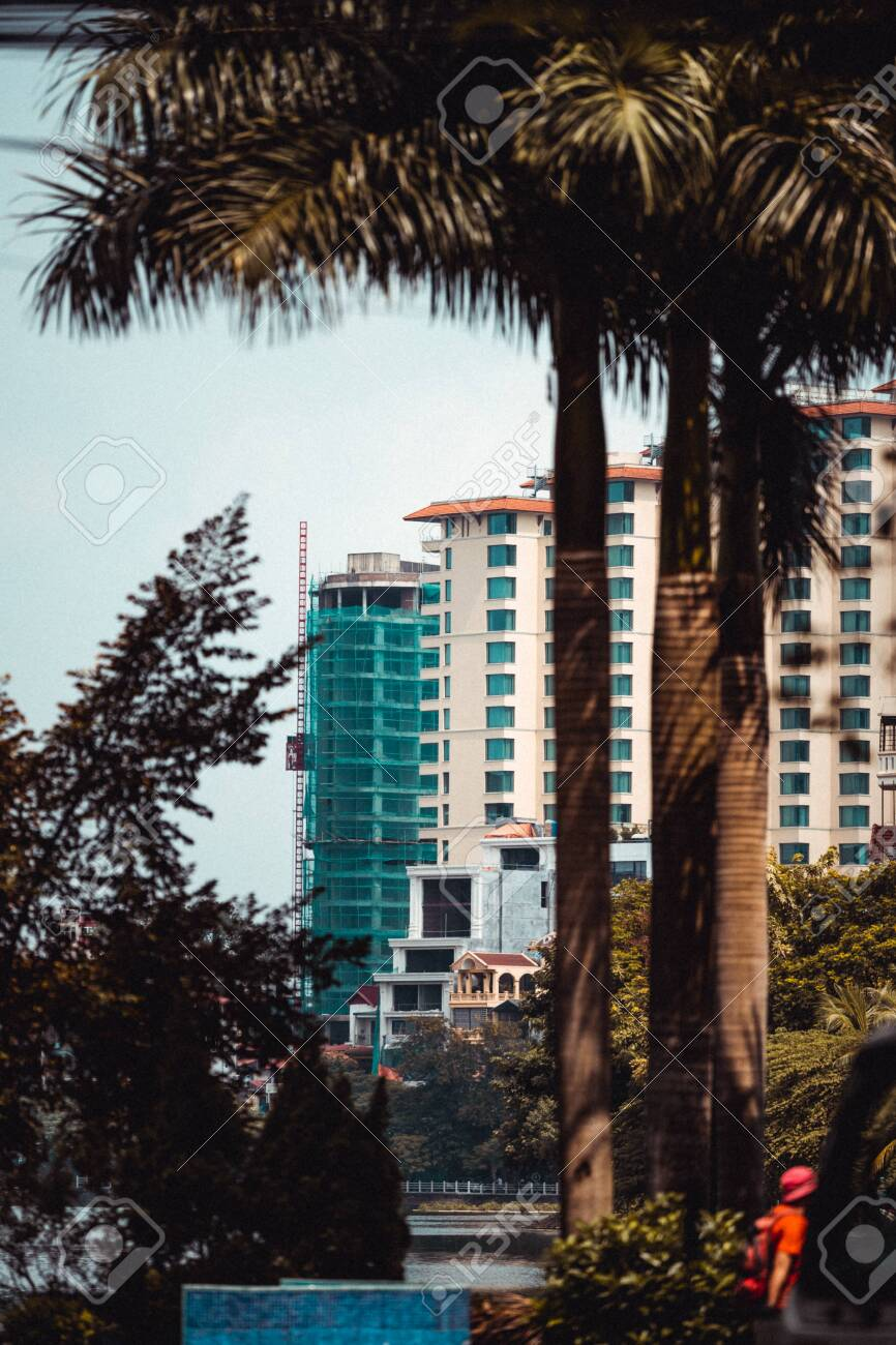 Hanoi Capital Of Vietnam New Tall Buildings Are Being Constructed Stock Photo Picture And Royalty Free Image Image 134423336