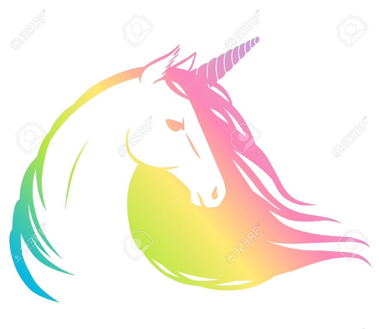 rainbow unicorn vector illustration royalty free cliparts vectors rh 123rf com free vector art rainbow unicorn free unicorn vector images