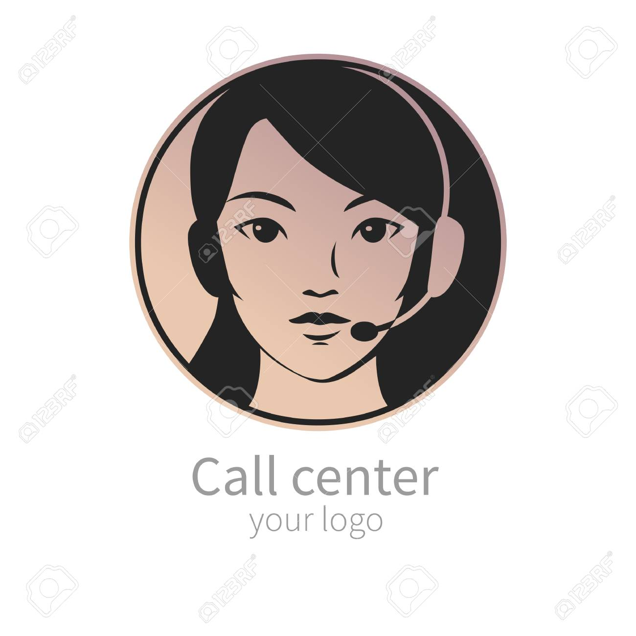 pretty operator of call center vector template for your logo royalty free cliparts vectors and stock illustration image 110206901 pretty operator of call center vector template for your logo