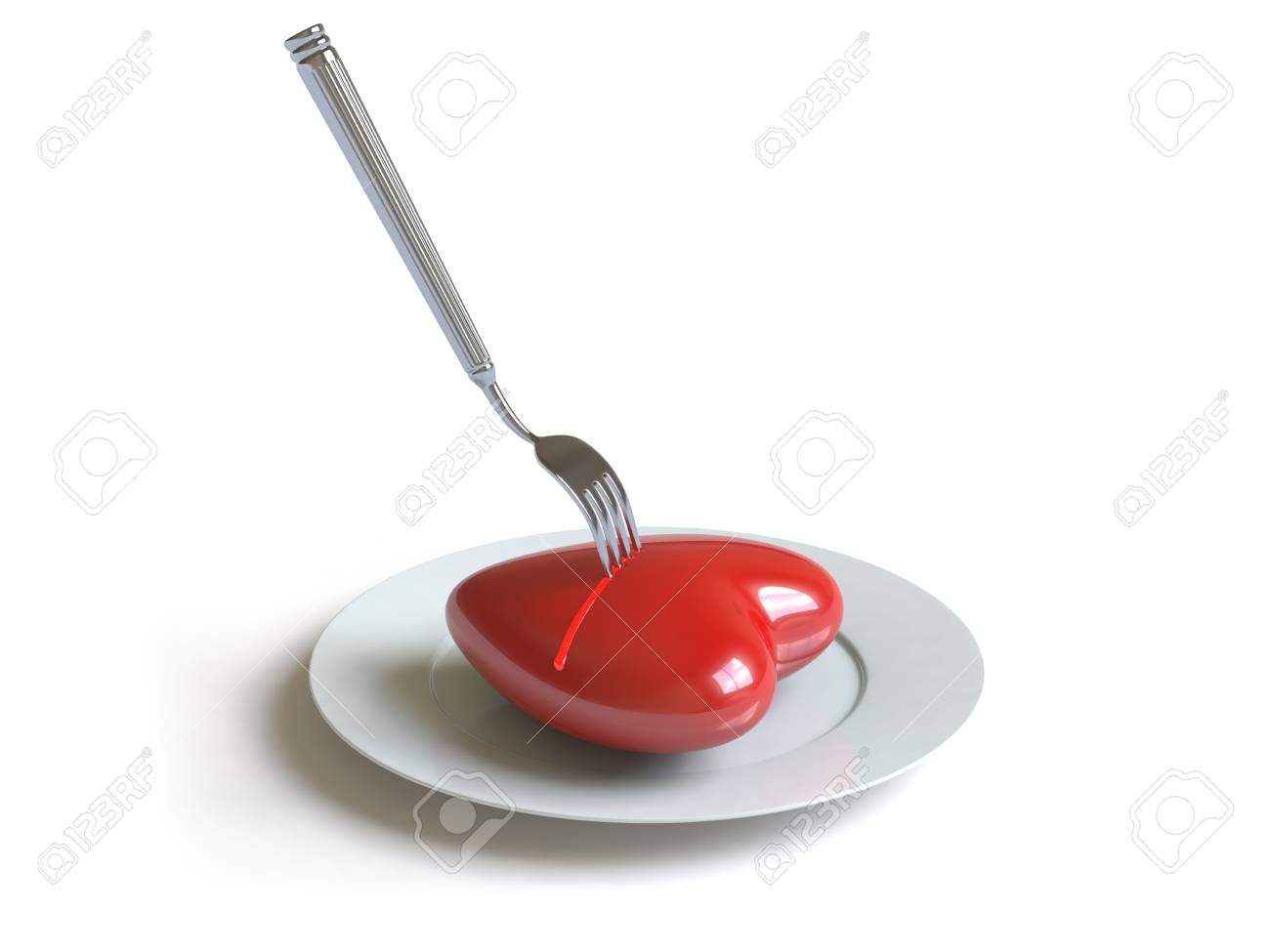 a heart lies on a dish, he can be eaten. Stock Photo - 4801478