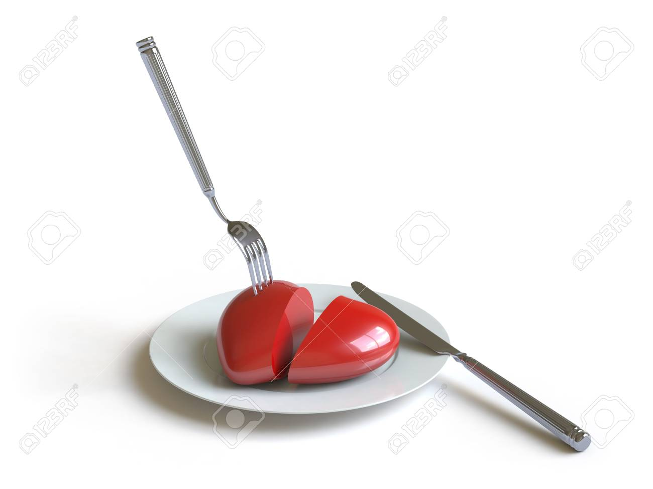 a heart lies on a dish, he can be eaten. Stock Photo - 4801513