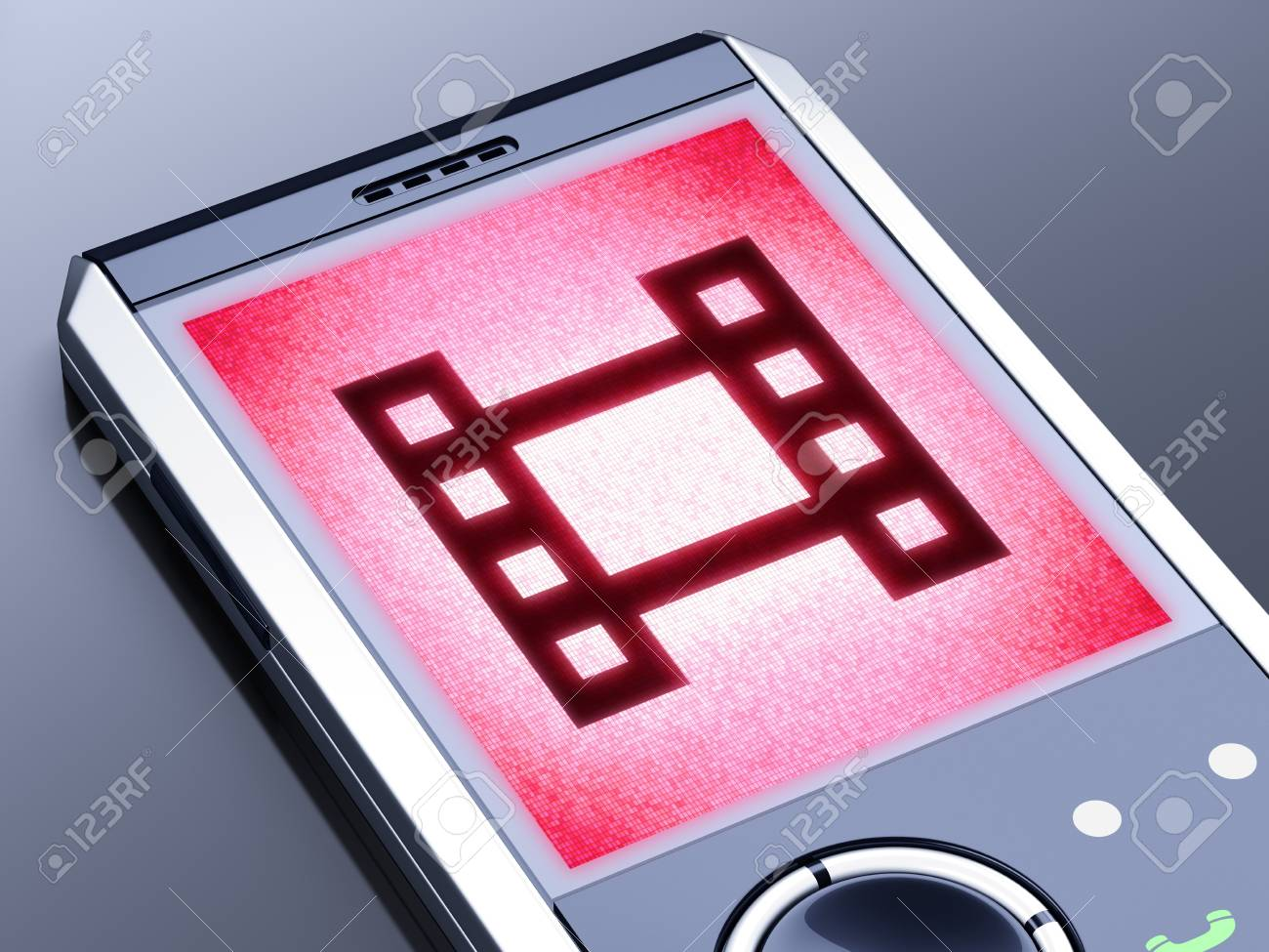 It is my own design of mobile phone, therefore you can use this picture for commercial purposes. Stock Photo - 10923082