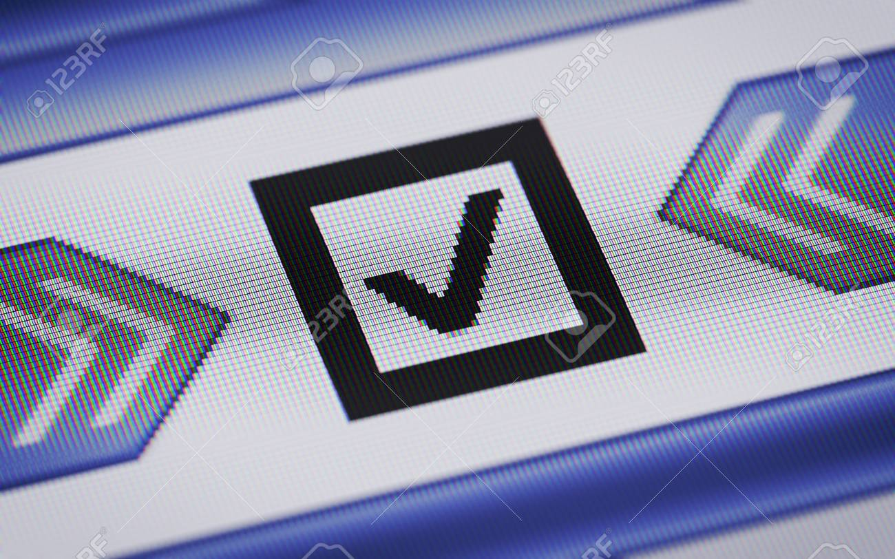 Checkbox icon Stock Photo - 30791024