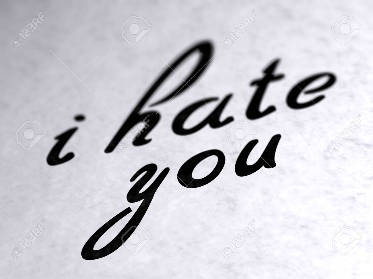 I Hate You On Paper Stock Photo Picture And Royalty Free Image