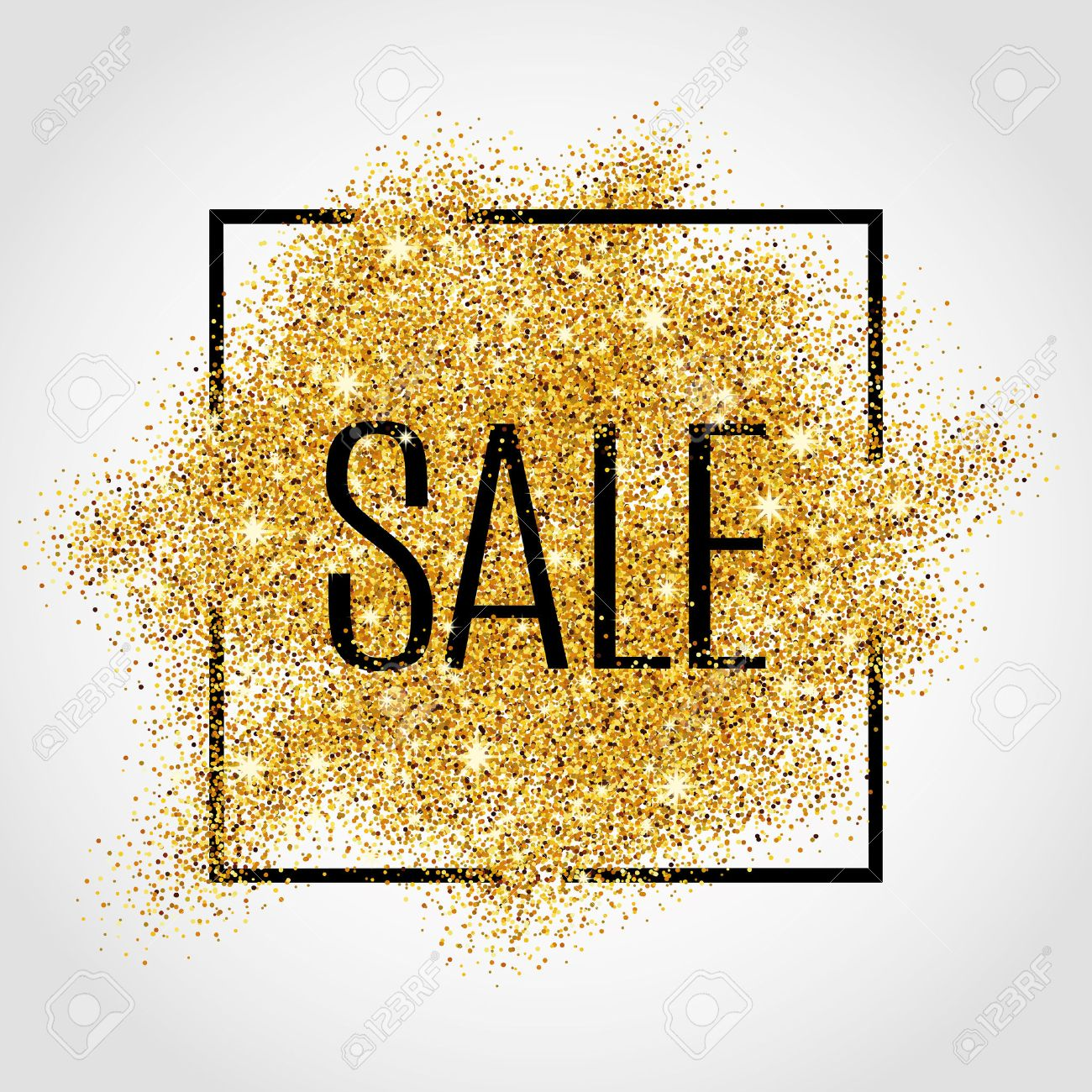Gold sale background for poster, shopping, for sale sign, discount, marketing, selling,web, header. Abstract golden background for text, type, quote. Gold blur background - 52579342