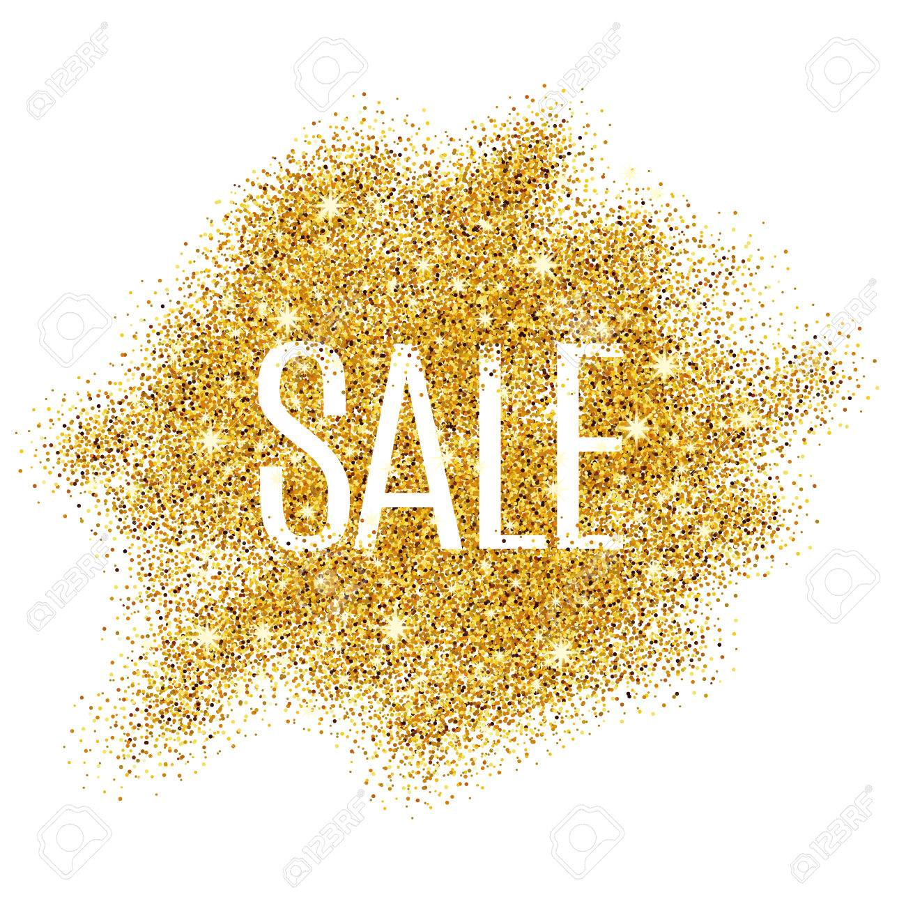 Gold sale background for poster, shopping, for sale sign, discount, marketing, selling, web, header. Abstract golden background for text, type, quote. Gold blur background - 52579341