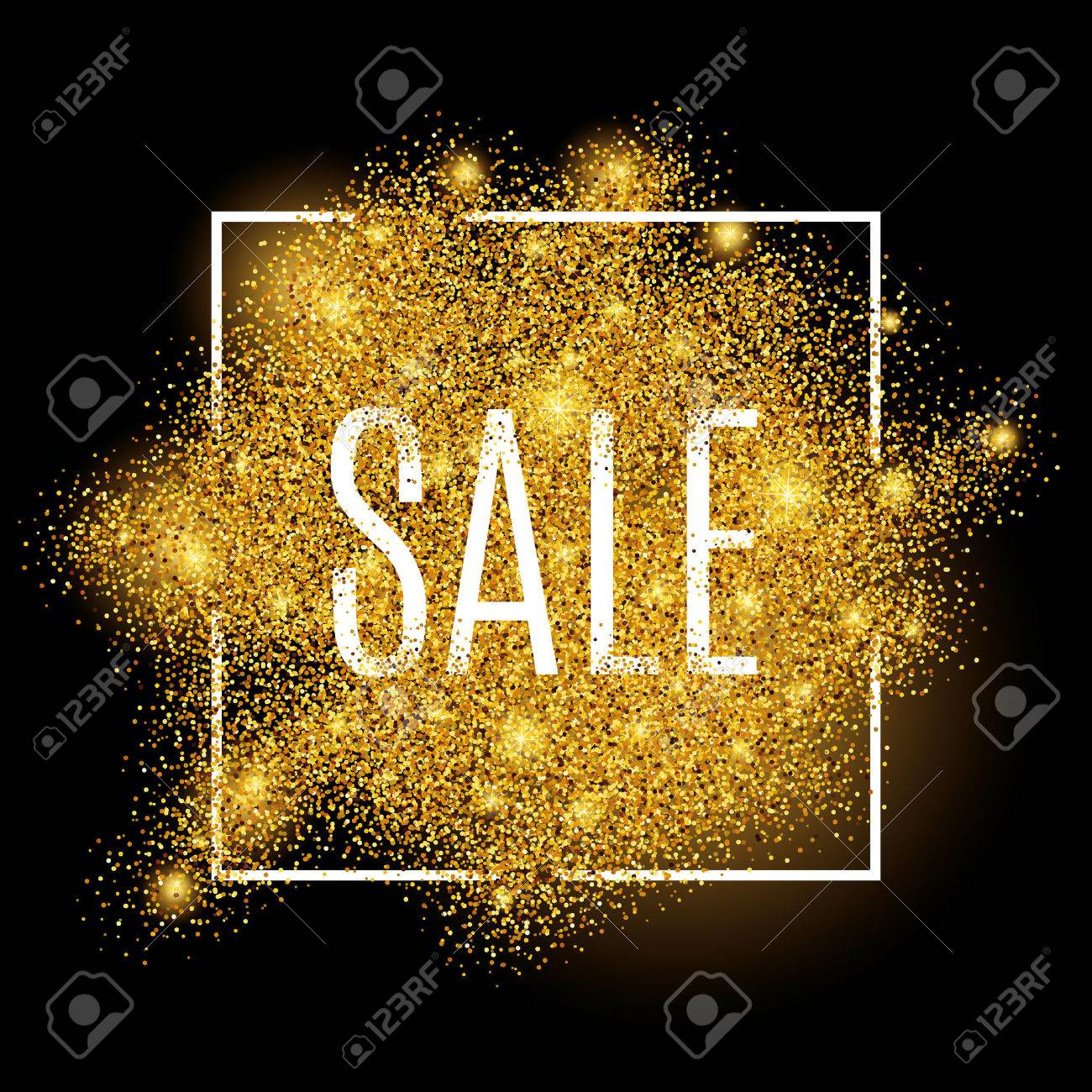 Gold sale background for poster, shopping, for sale sign, discount, marketing, selling, web, header. Abstract golden background for text, type, quote. Gold blur background - 52579349
