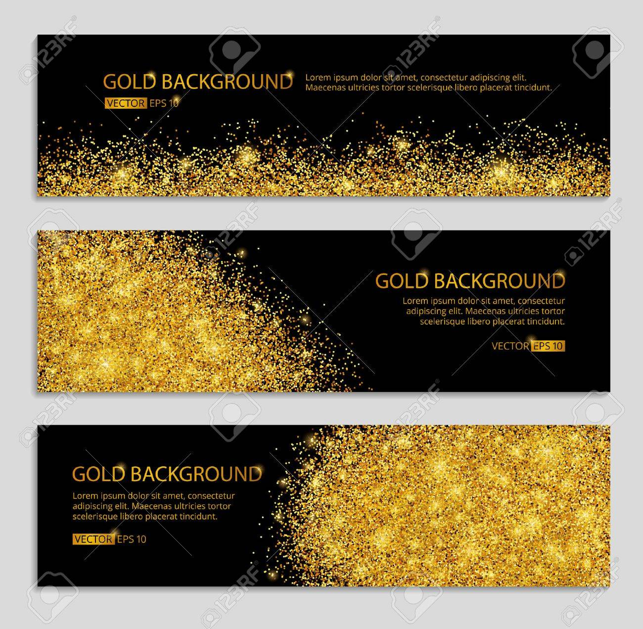 Gold sparkles white background. Gold banner. Gold background. Gold club with text. web, card, vip, exclusive, certificate, gift, luxury, voucher, store, shopping, sale. - 52579352