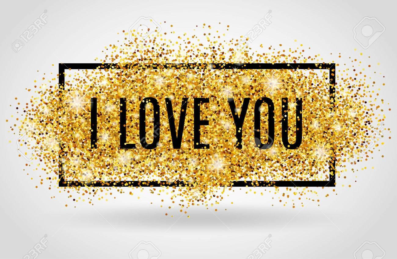 Valentinstag Hintergrund Ich Liebe Dich Gold Hintergrund Für F
