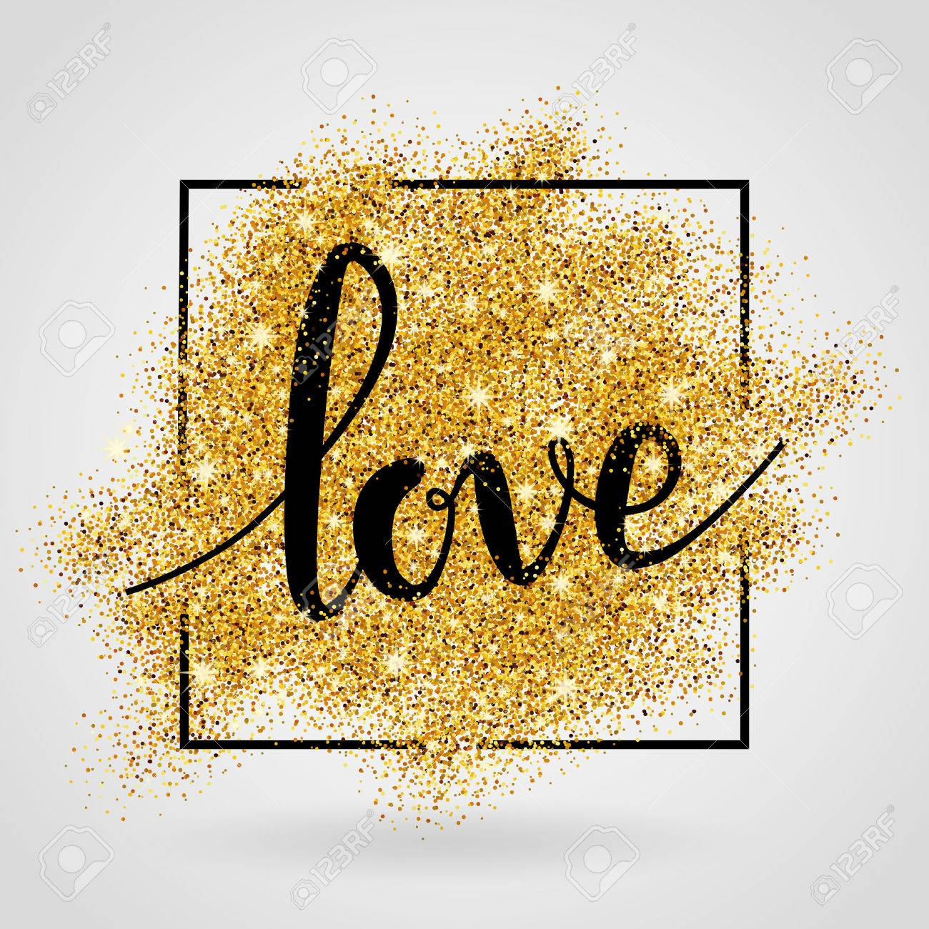 Love gold background. - 55171841