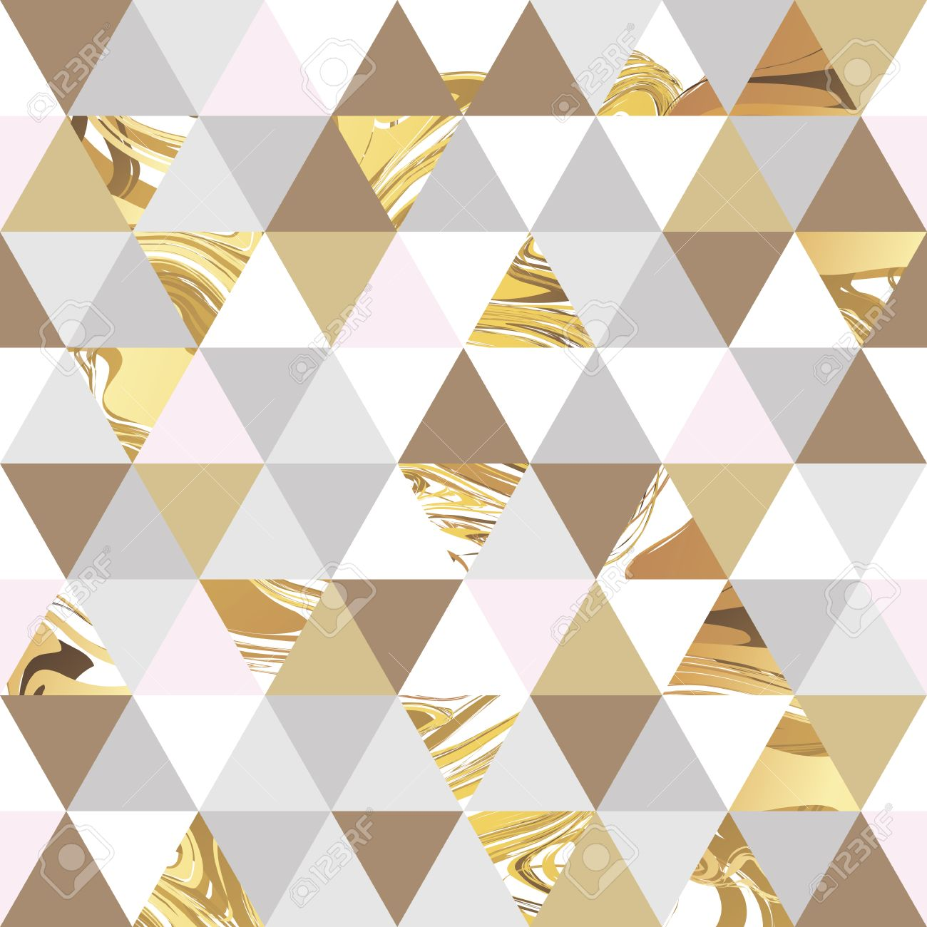 Geometric marble seamless marble gold pattern background. Color geometric background for poster, marketing, card, web header. Marble golden colorful background - 57937511