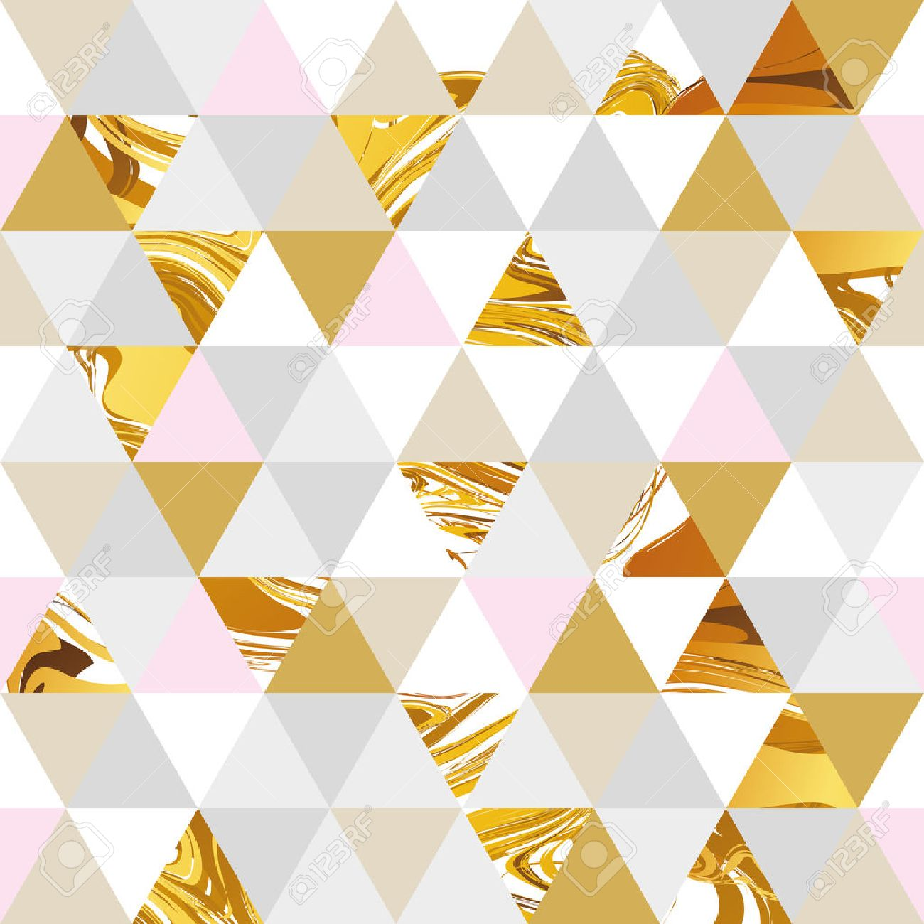 Geometric marble seamless marble gold pattern background. Color geometric background for flyer, poster, marketing, card, banner, web header. Marble golden colorful background - 60559823