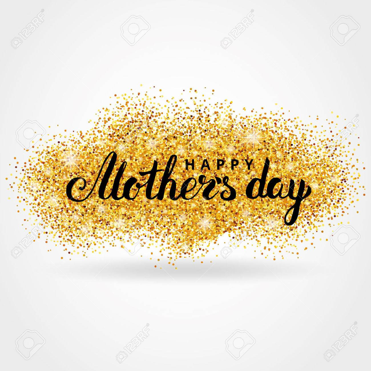 Mother day gold glitter background. Gold glitter. Gold background for greeting card, poster, sign, web header. Abstract sparkle background for mother day. Gold blur background. - 63414886