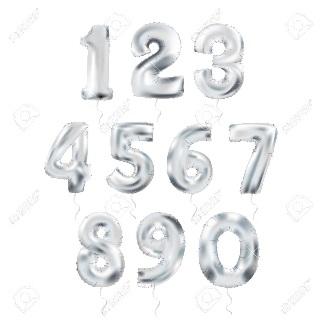 Metallic Silver Letter Balloons, 123 silvern numeral alphabeth. Silver Number Balloons, 1, Alphabet Letter Balloons, 2, Number Balloons, 3 Air Filled Balloon - 66824952