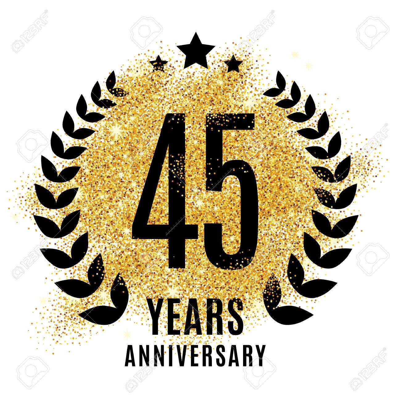 45 Year Anniversary Symbol Clipart Library