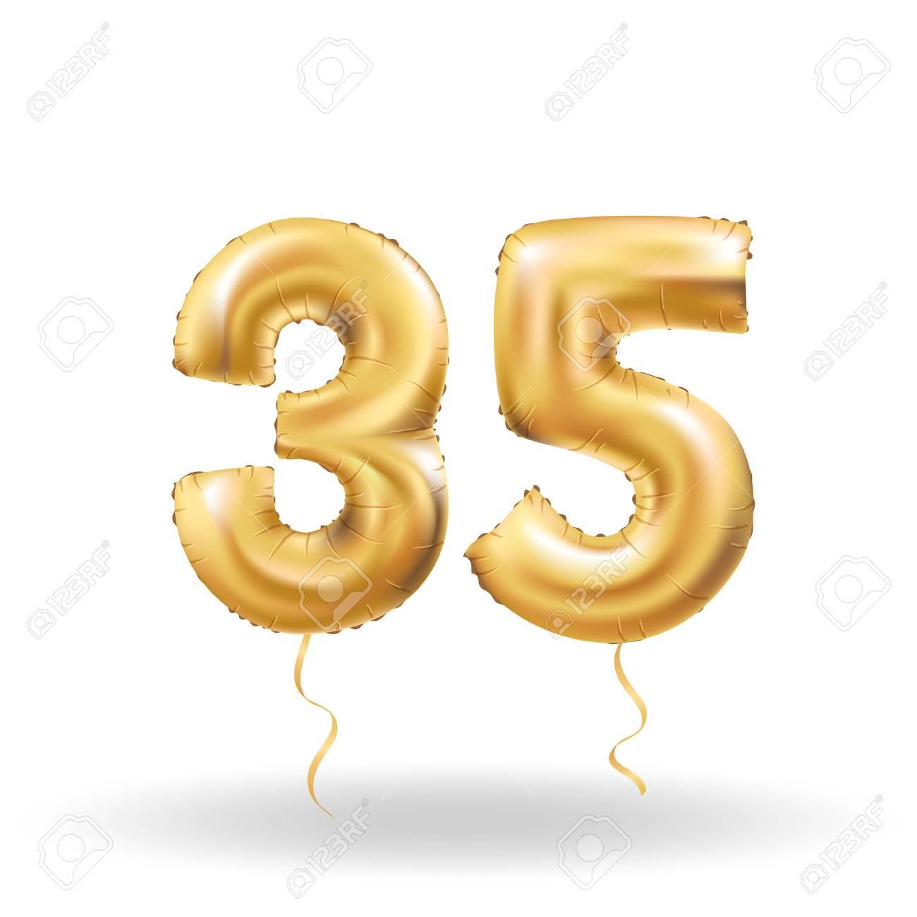 number thirty five metallic balloon - 74709962