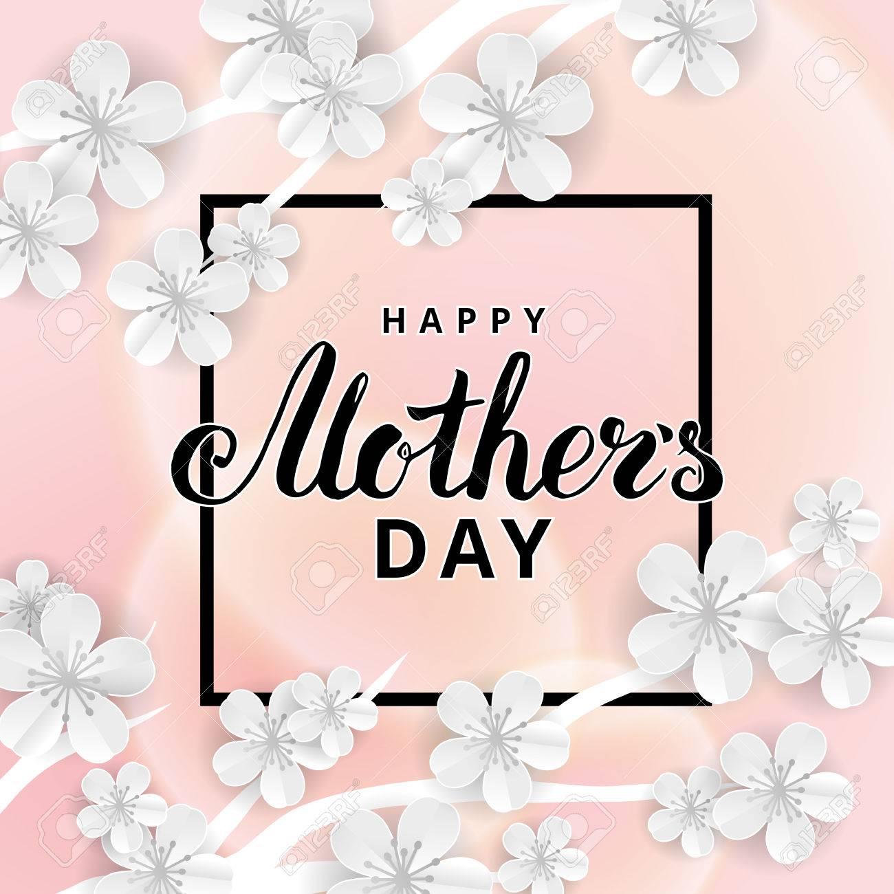 Happy Mothers day sakura flower - 75070187