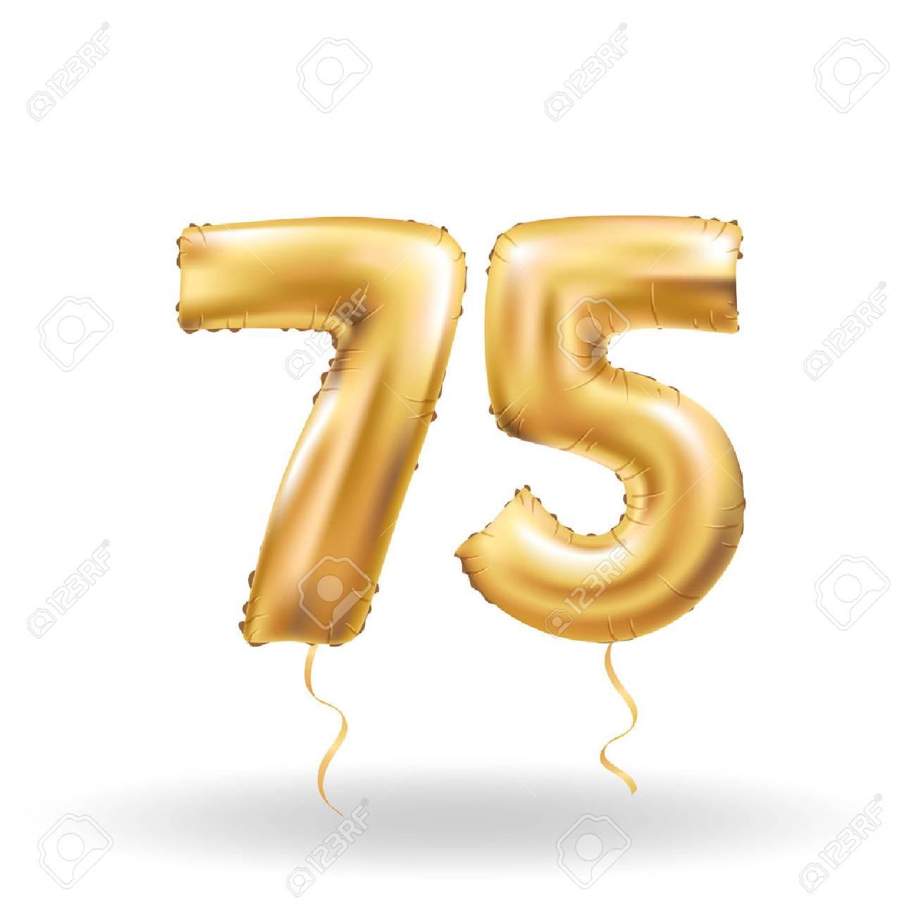 number seventy five metallic balloon - 75078979