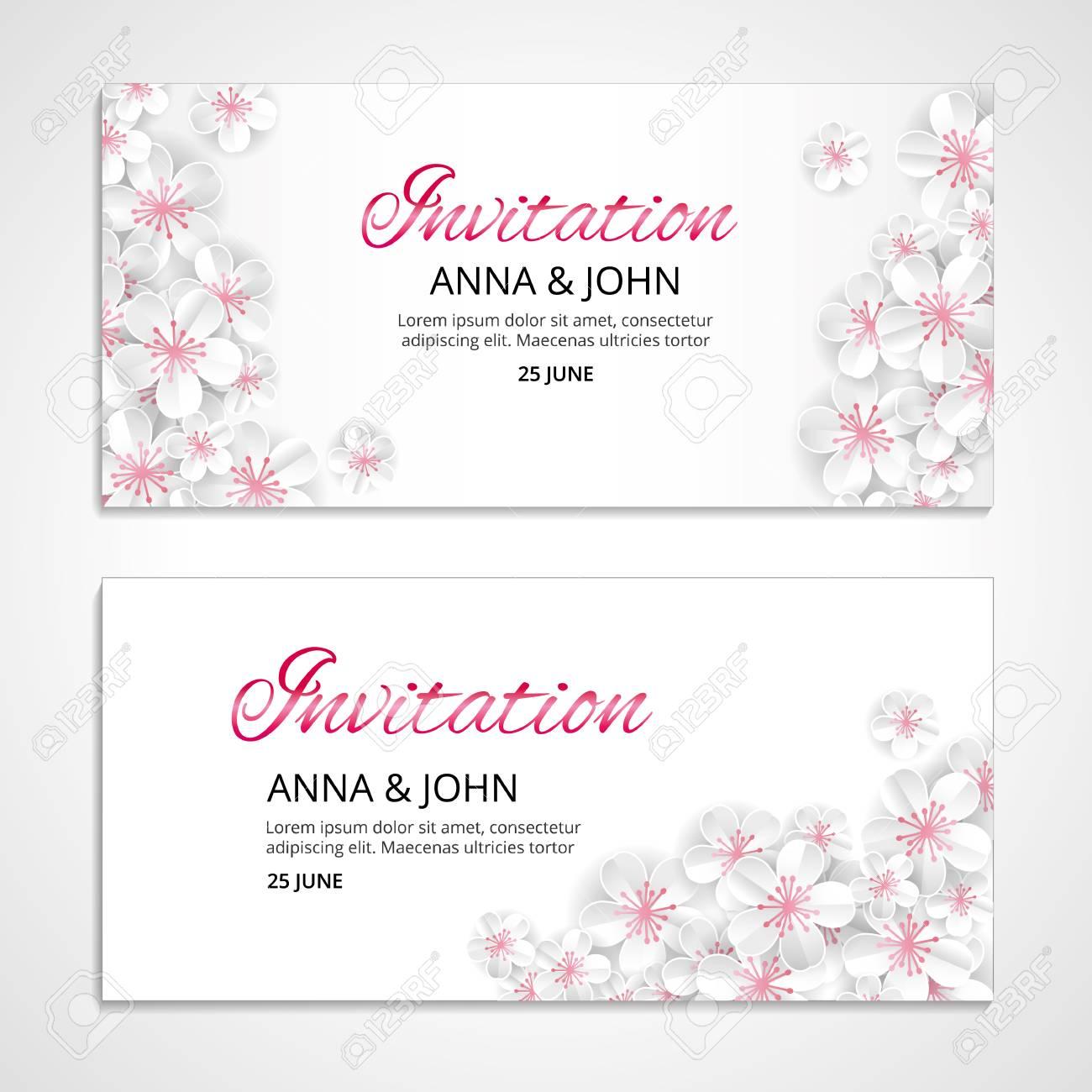 Flower Wedding Paper Invitation For Weddings, Background ...