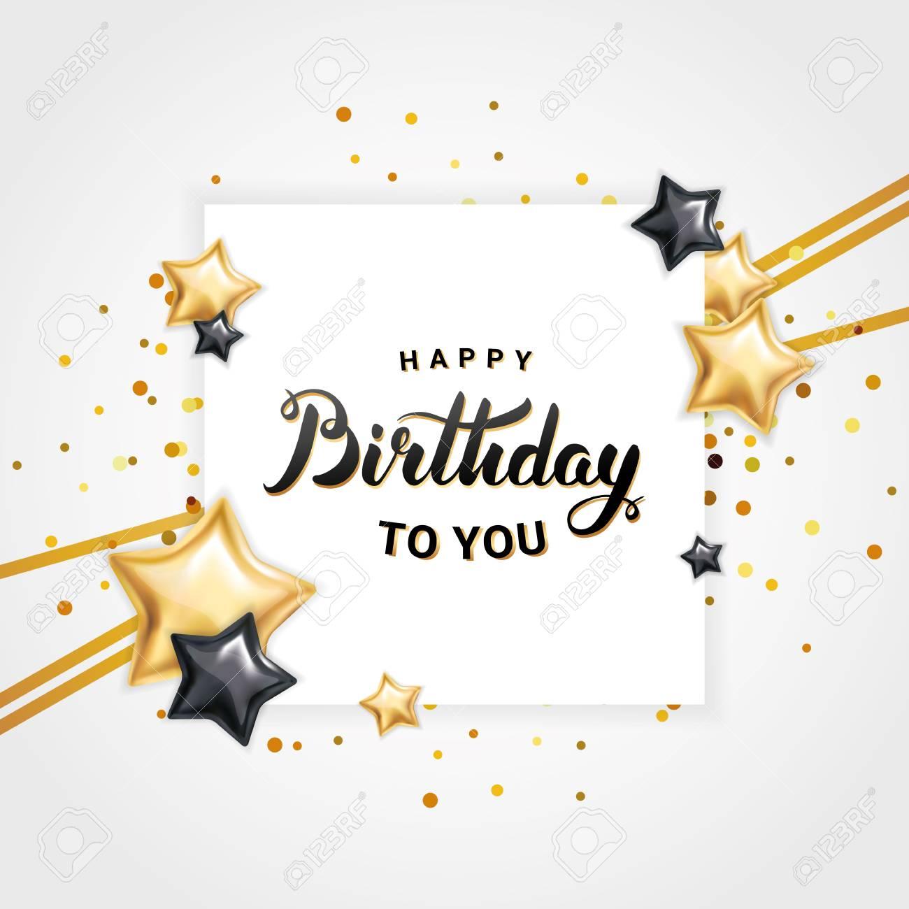 Happy birthday Star balloon - 78257690