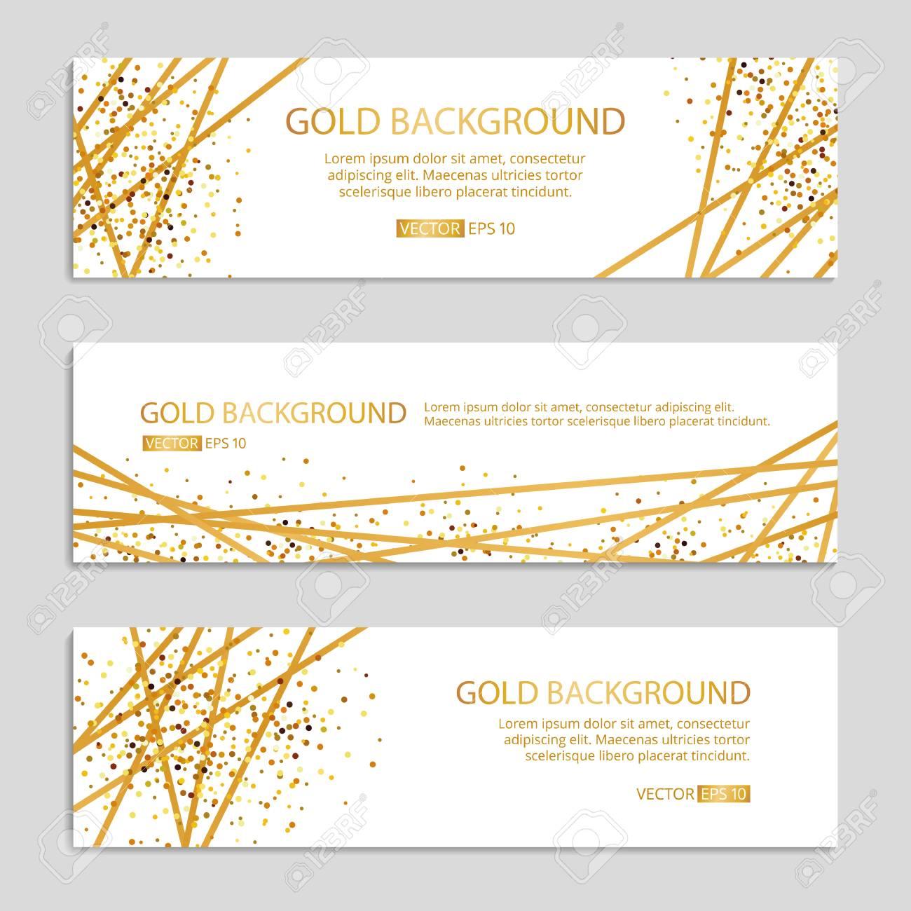 Gold Sparkles banner Background Vector illustration. - 92115128
