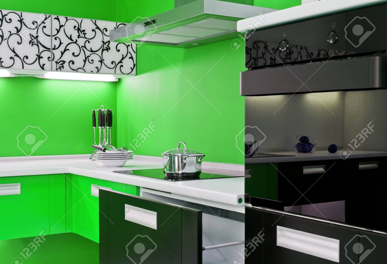 modern kitchen interior Stock Photo - 12081659