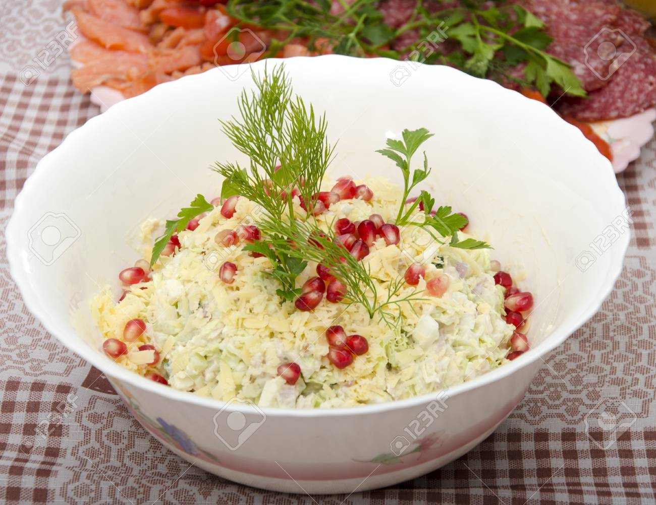 salad in a dish on a table Stock Photo - 17167656