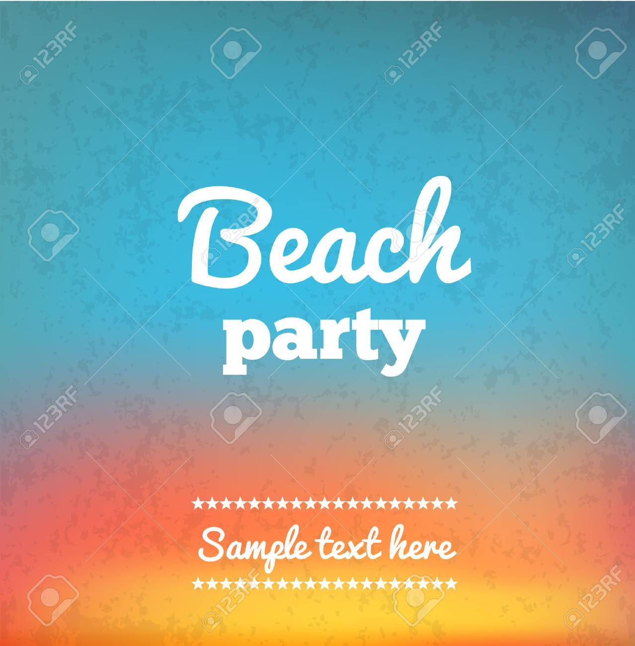 Illustartion of Beach Party Flye with place for text - 50353870