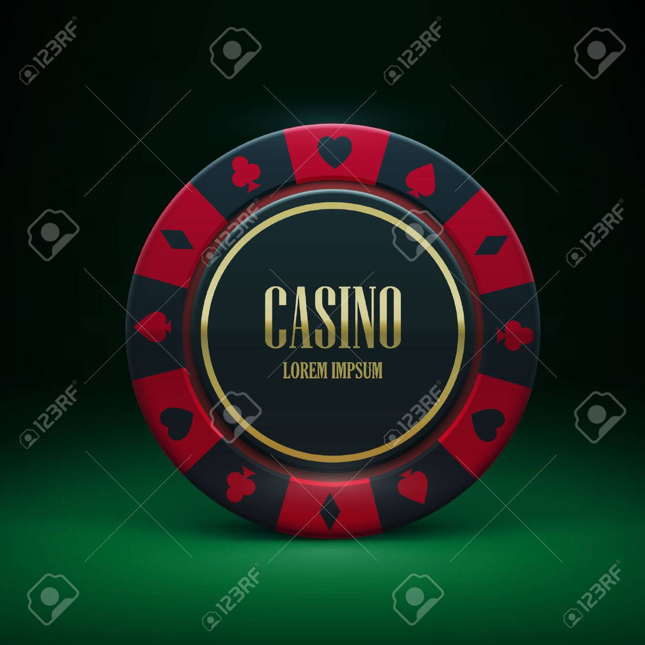 Illustartion of casino chip with place for textrealistic theme - 50379284