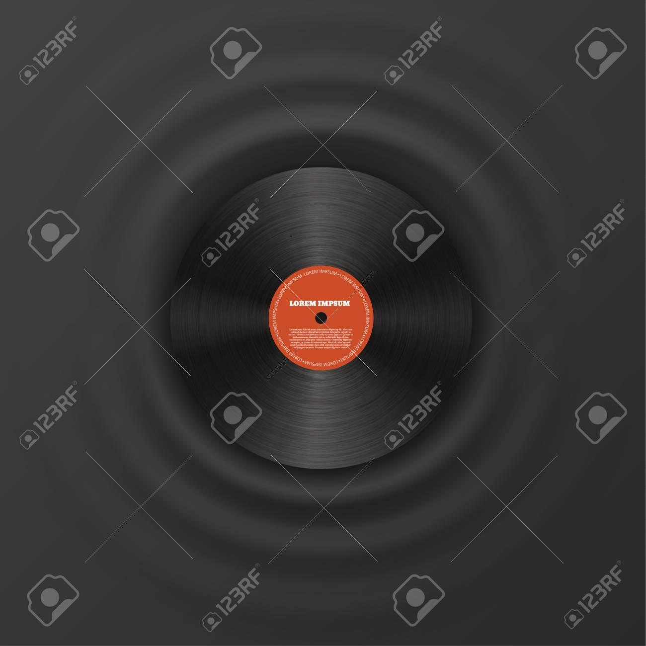 Illustartion of Vinyl disk realistic design eps 10 - 50709928