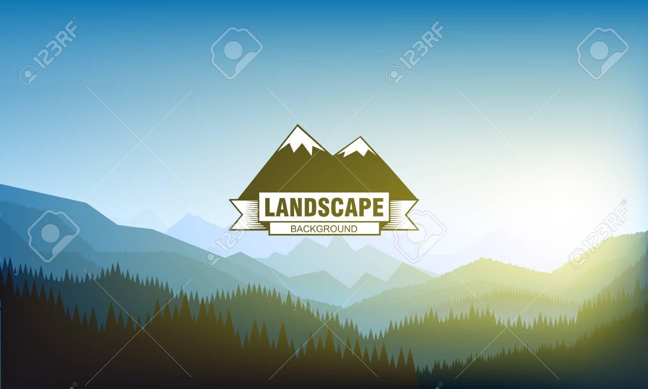Illustartion of landscape mountain background eps 10 - 50710778