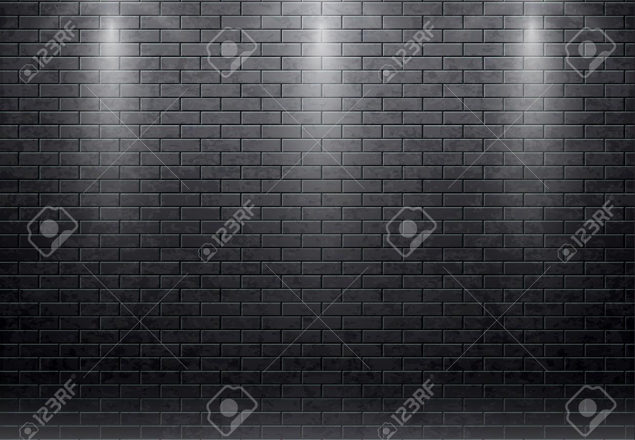 Illustartion of brick wall black background - 51106343