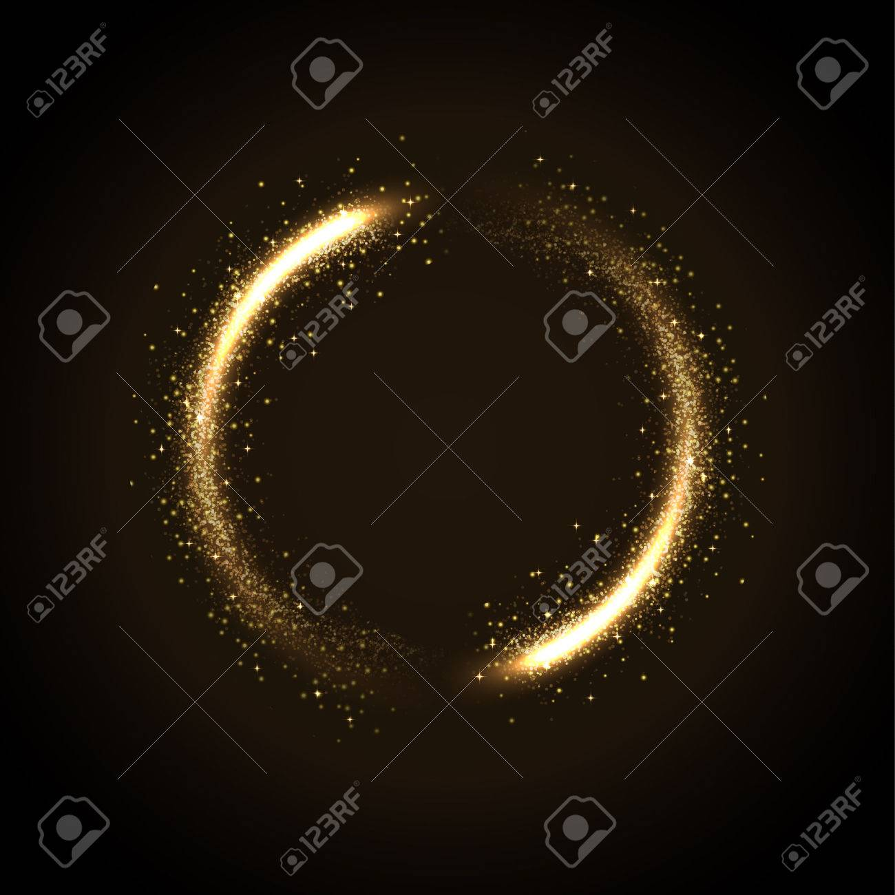 illustration of glowing dust from glittering stras - 51106354