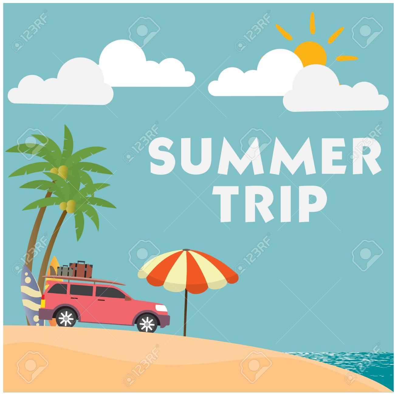 Summer Trip Van Umbrella Blue ...