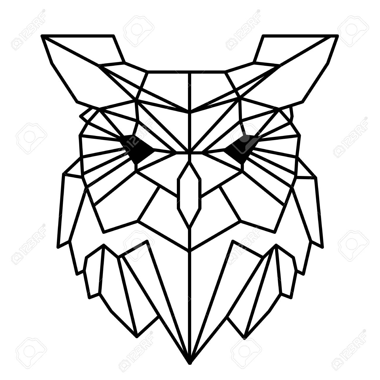 modern geometry owl design tattoo vector image royalty free cliparts rh 123rf com tattoo victoria bc tattoo vector files
